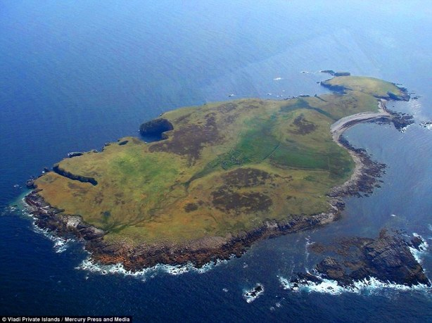 94 acre Irish Island for sale - cheap - but you can only reach it in good weather or by helicopter