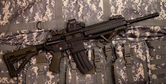 HK 416 in 22 LR with Magpul goodies