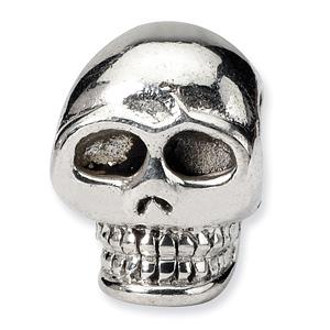 Silver Skull Bead